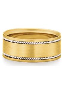 Aliança De Casamento Ouro Amarelo E Branco Honeymoon