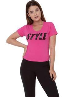 Camiseta Grupo Avenida Style Feminina - Feminino-Pink