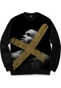 Blusa Bsc Chris Brown X Full Print - Masculino-Preto