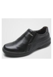 Sapato Social Pegada Liso Preto