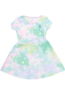 Vestido Cativa Kids Estampa Branco - Tricae