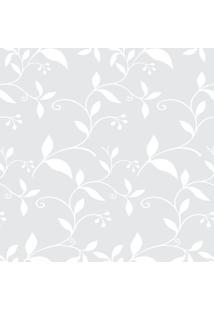 Papel De Parede Floral- Cinza Claro & Branco- 300X0,Jmi Decor
