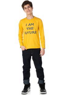Camisa Juvenil Menino Tileesul Amarelo