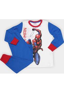 Pijama Infantil Evanilda Spider Man Malha Longo Tal Filho - Masculino