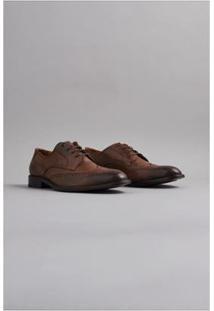 Sapato Londres Oficina - Masculino-Marrom