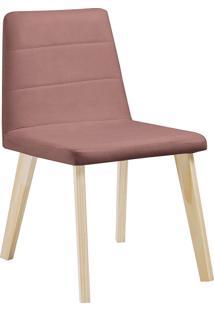 Cadeira Caju F58-1 Veludo – Daf Mobiliário - Rosa