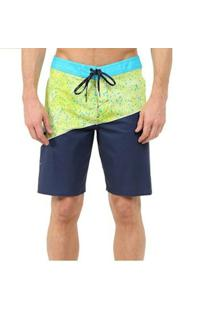 Boardshort O´Neill Side Wave Masculina - Masculino-Azul+Verde