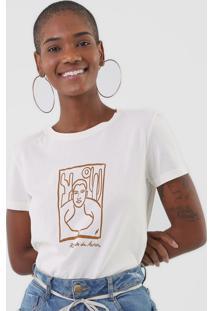 Camiseta Cantão Retrato Off-White