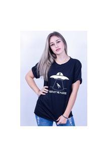 Camiseta Bilhan Corte A Fio Et Me Leva Preta