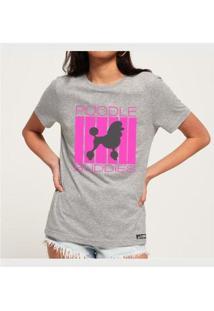 Camiseta Poodle Buddies Feminina - Feminino-Mescla