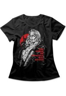 Camiseta Castlevania Feminina - Feminino-Preto