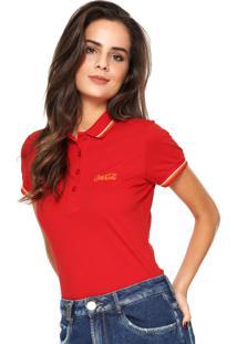 Camisa Polo Coca-Cola Jeans Reta Listras Vermelha e352124e2db56