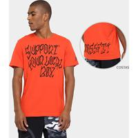 1de7cc8917 Camiseta Reebok Rcf Sylb Masculina - Masculino-Laranja