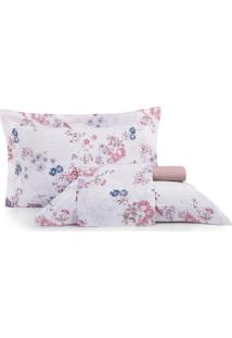 Jogo De Cama King Altenburg Home Collection 180 Fios Red Velvet - Rosa Rosa - Tricae