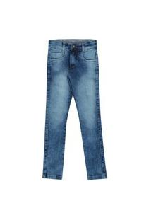 Calça Infantil De 4 A 8 Anos Slim Jeans Claro Estoanado