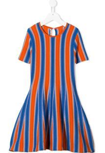 Marni Kids Vestido Com Listras - Azul