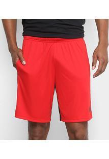 Short Adidas Bermuda Plain Masculina - Masculino-Vermelho+Preto