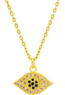 Gargantilha Horus Import Olho De Horus Banhada Ouro Amarelo 18 K - 1061172