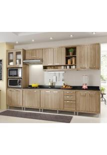 Cozinha Modulada Multimóveis Sicília 15 Portas E 3 Gavetas - Argila Acetinado
