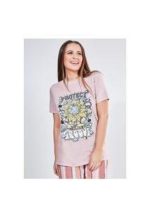 Camiseta Manga Curta Estampa Groove