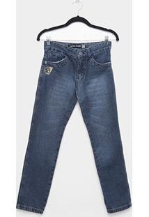Calça Jeans Juvenil Fatal Estonada Masculina - Masculino
