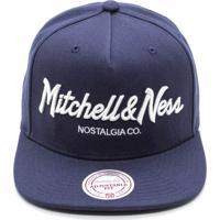 b4750cca69 Boné Mitchell & Ness Pinscript Branded Snapback Azul Marinho