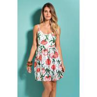 a3605408d Posthaus. Vestido Floral Quintess Com Decote V ...