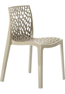 Cadeira Gruvyer - Polipropileno - Nude - Bege