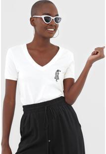 Camiseta Dzarm Bordada Off-White - Kanui