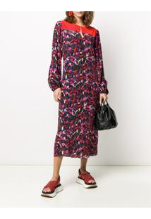 Dorothee Schumacher Vestido Midi Artsy Flower - Cinza