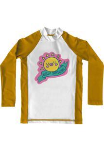 Camiseta De Lycra Comfy Sunshine - Amarelo - Feminino - Dafiti