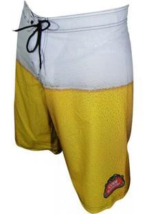 Bermuda Code Boardshort Beer - Masculino-Amarelo