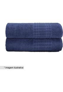 Toalha De Rosto Loft- Azul Marinho- 45X70Cm- Camcamesa