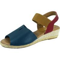 8613f6c901 Dafiti. Sandália Anabela S2 Shoes Elisa Azul Jeans