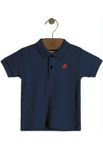 Camisa Polo Infantil Azul Up Baby