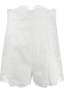 Zimmermann Short Super Eight Bordado - Branco