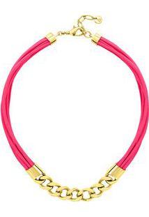 Pulseira Collier- Rosa & Douradaswarovski