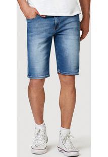 Bermuda Jeans Moletom Masculina Slim Com Barra Dobrada