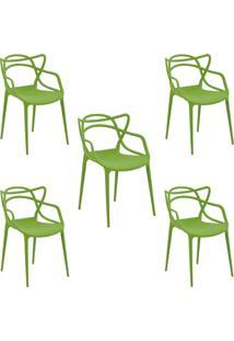 Kit 5 Cadeiras Decorativas Sala E Cozinha Feliti (Pp) Verde - Gran Belo - Verde - Dafiti