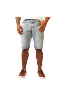 Bermuda Jeans Sandro Moscoloni Basic Azul Claro