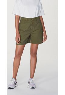 Shorts Jeans Feminino Em Algodão Cintura Alta