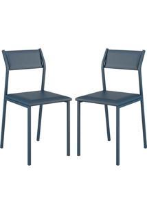 Cadeira 1709 Color Uv 02 Unidades Azul Noturno Carraro
