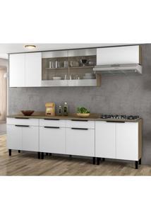Cozinha Compacta Itamaxi Ii 11 Pt 3 Gv Branca E Castanho