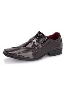 Sapato Social Masculino 835 Verniz Marrom