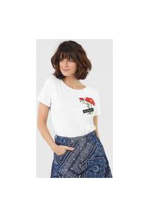 Camiseta Lança Perfume Patch Floral Branca