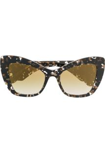 Dolce   Gabbana Eyewear Oversized Cat-Eye Sunglasses - Marrom e50e546ab1