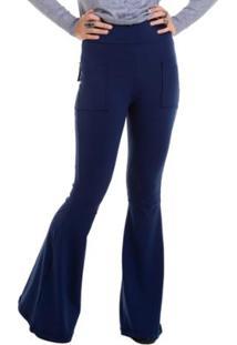 3536efff33 Calça Manola Flare Suplex Com Bolso - Feminino-Azul