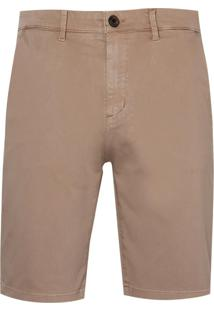 Bermuda Dudalina Sarja Stretch Essentials Masculina (P19/V19 Marrom Claro, 48)