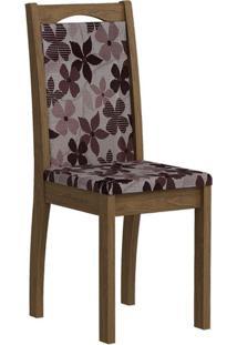 Cadeira Lívia Floral Bordô Savana