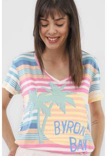 Camiseta Lez A Lez Waves Off-White/Rosa